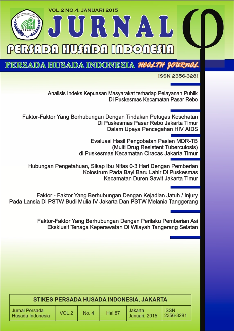 Cover Jurnal Persada Husada Indonesia vol.2 no.4 Januari 2015