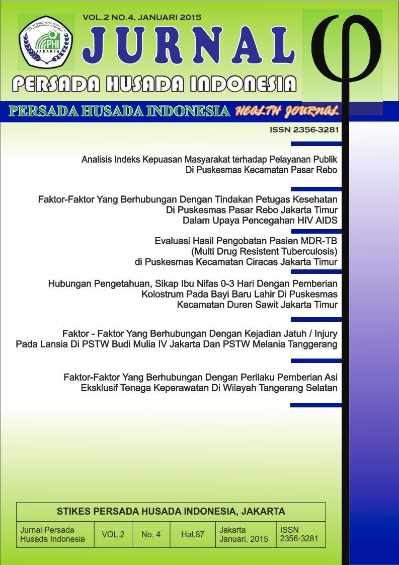 Cover Jurnal Persada Husada Indonesia vol.2 no.4 Januari 2015
